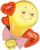 "Nothing says ""be mine"" like a bulb in a bowtie."