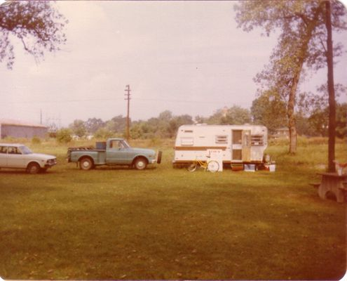 Our cars and camper.